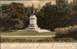 Schiller Monument in Lincoln Park Postcard