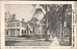 Residence of Dr. S.C. Gordon