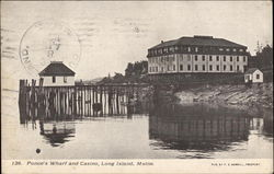 Ponce's Wharf and Casino Postcard