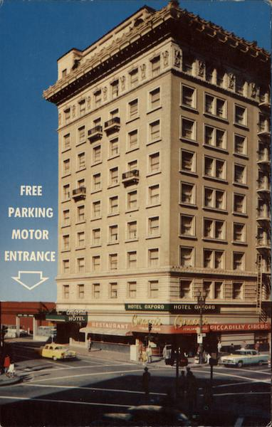 Oxford Hotel, Mason at Market Sts San Francisco California