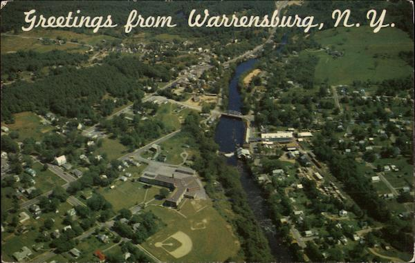 Aerial View of Town Warrensburg, NY