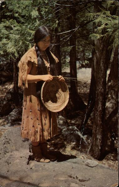 Indian Woman with Basket Yosemite National Park California