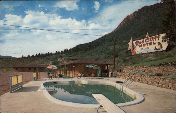 Swimming Pool Red Cliff Motel Lyons Co