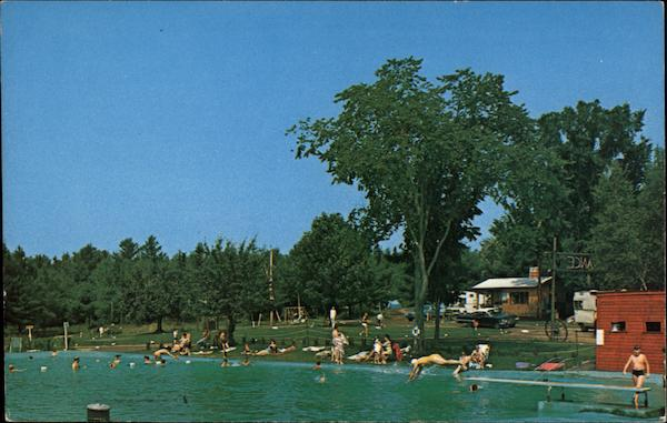 Yonder Hill Campground Swimming Pool Recreation Area Skowhegan Me