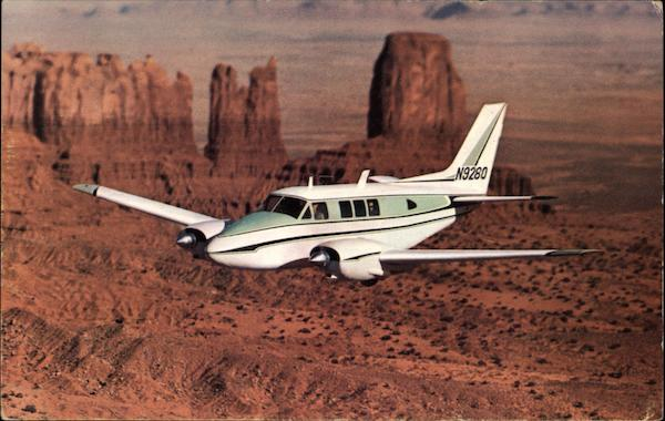 The Beechcraft Queen Air A80 over Monument Valley, UT