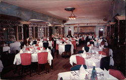 Interior View of Clipper Ship Room of the Ship Wheel Inn Postcard