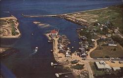 Air View of Menemsha Harbor