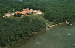 Air View of Potawatomi Inn at Pokagon State Park