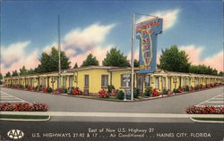 Central Florida Motel Restaurant Postcard