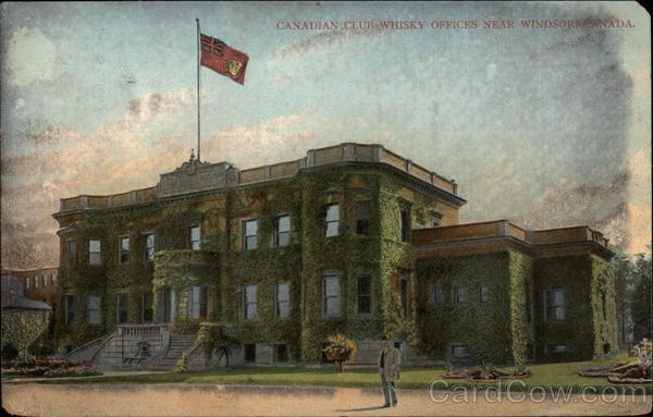 Canadian Club Whisky Offices Windsor Canada Ontario