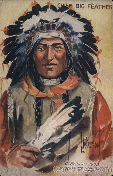 Chief Big Feather Native Americana