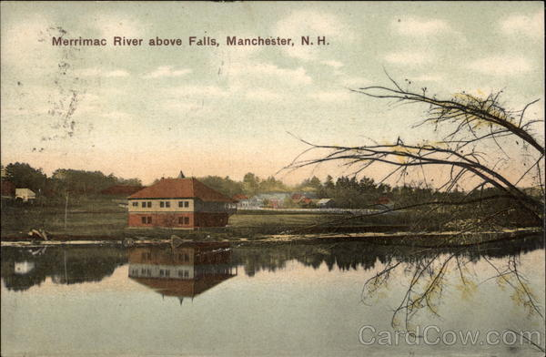Merrimac River above Falls Manchester New Hampshire