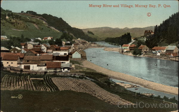 Murray River and Village Murray Bay Canada Quebec