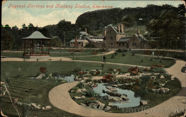 Pageant Gardens and Railway Station Sherborne England