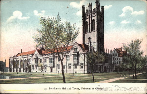 Hutchinson Hall and Tower, University of Chicago Illinois