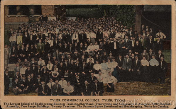 Tyler Commercial College Texas