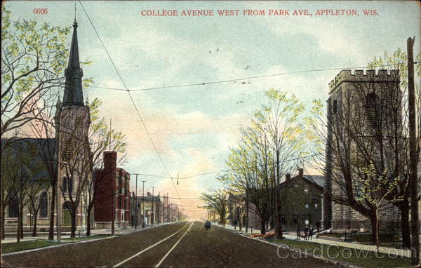 College Avenue West from Park Ave Appleton Wisconsin