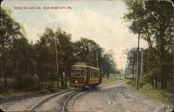 Scene on Car Line Webb City Missouri