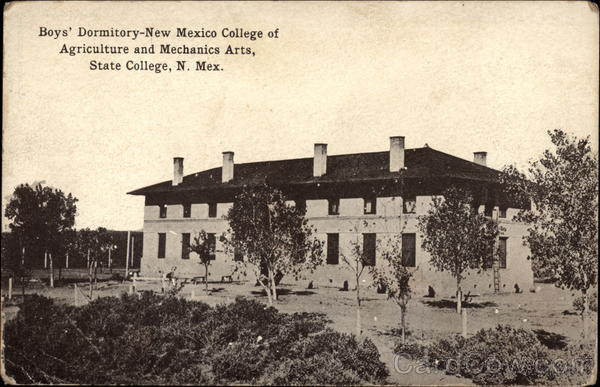 Boy's Dormitory, New Mexico College of Agriculture and Mechanics Arts Las Cruces