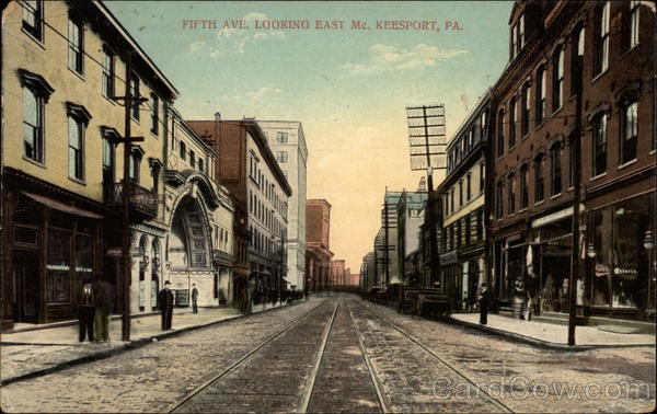 Fifth Ave. Looking East Keesport Pennsylvania