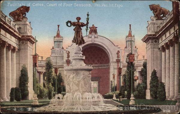 Fountain of Ceres, Court of Four Seasons, Pan.Pac.Intl.Exp San Francisco California