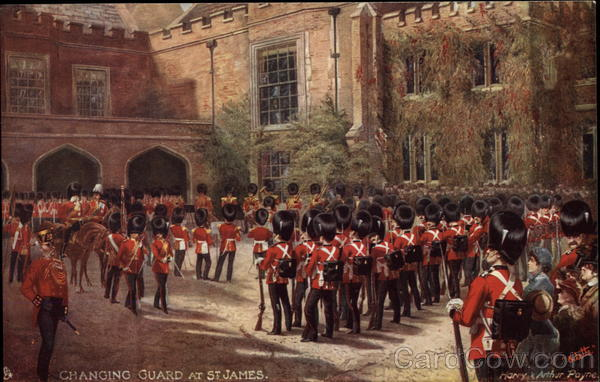 Changing Guard at St. James London England