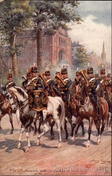 The 7th Hussars Entering London for Road Duty England