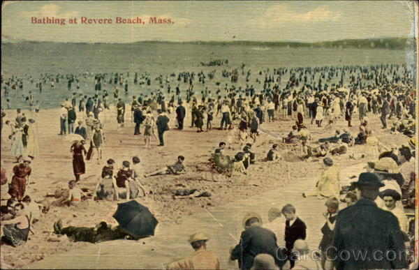 Bathing at Revere Beach Massachusetts