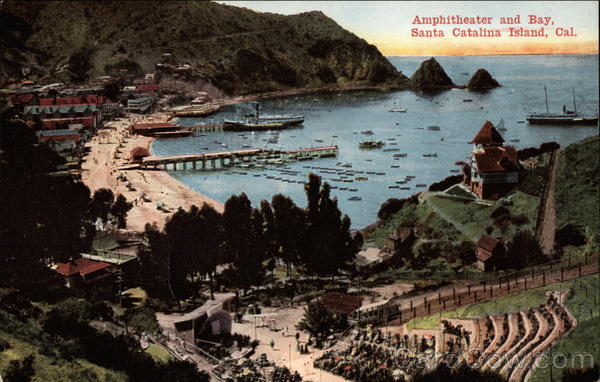 Amphitheater and Bay Santa Catalina Island California