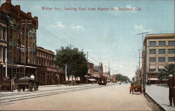 Weber avenue looking east from hunter street stockton ca for T shirt printing stockton ca