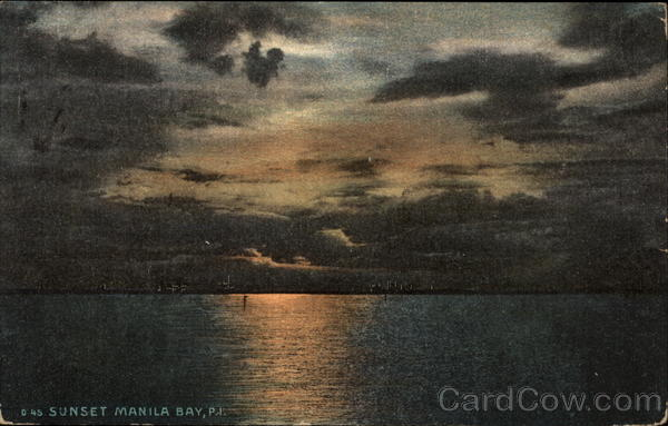 Sunset Manila Bay Philippines Southeast Asia