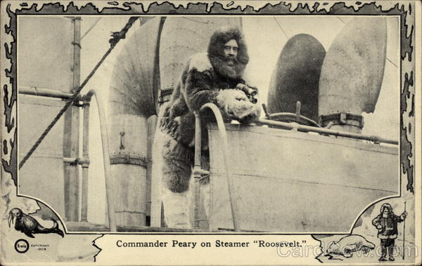 Commander Peary on Steamer Roosevelt Explorers