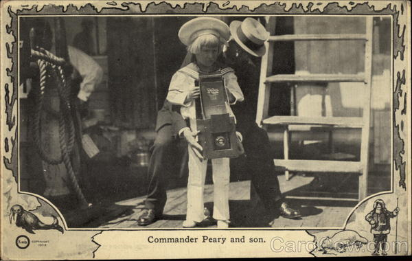 Commander Peary and son