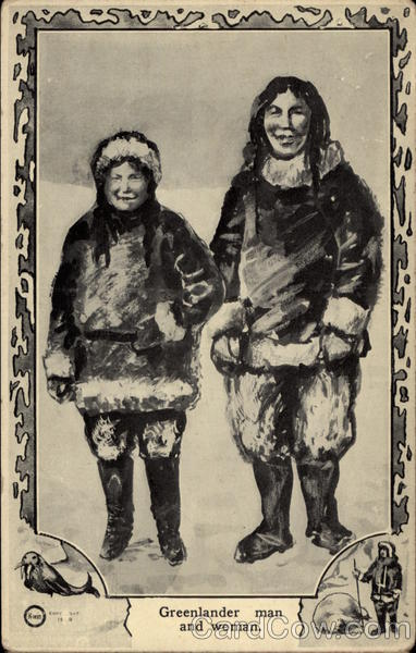 Greenlander Man and Woman Native Americana