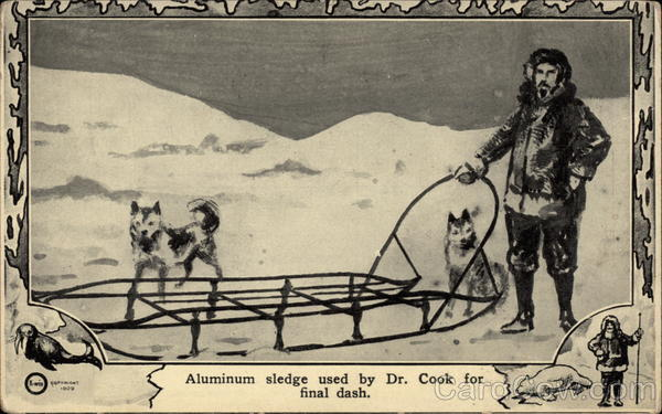 Aluminum sledge used by Dr. Cook for final dash
