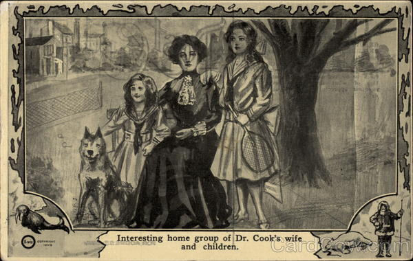 Interesting home group of Dr. Cook's wife and children