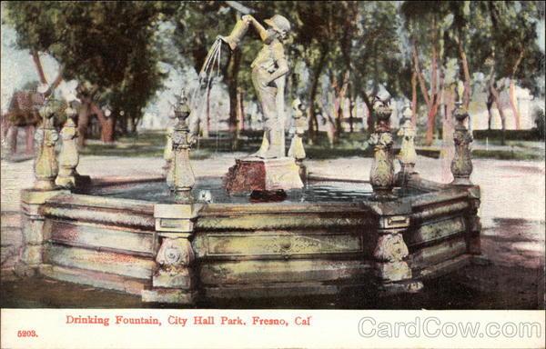 Drinking Fountain City Hall Park Fresno Ca