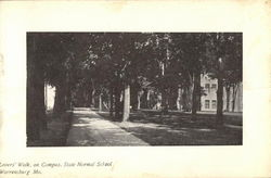 Lovers' Walk, on Campus, State Normal School