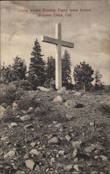 Cross where Donner Party wer Buried