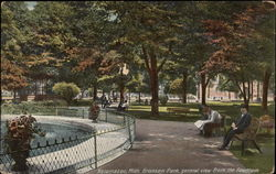 General View From the Fountain, Bronson Park