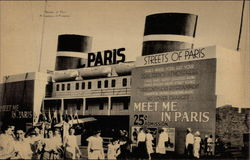 A Century of Progress, Streets of Paris, 1933 Postcard