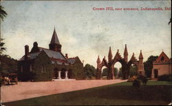 Crown Hill, east entrance Postcard