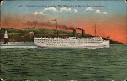 Steamer Harvard passing Mile Rock Light House