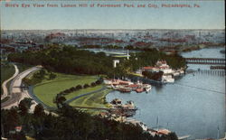Bird's Eye View from Lemon Hill of Fairmount Park and City