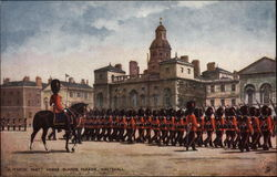 A March Past - Horse Guards Parade - Whitehall Postcard