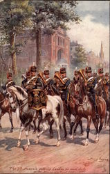 The 7th Hussars Entering London for Road Duty Postcard