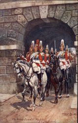 The King's Guard at Whitehall Postcard