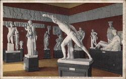 Corner of Greek Room, Phidian Period, The Art Institute of Chicago Postcard