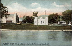 US Government Buildings, Iona Island Postcard