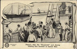 "Departure of Commander Peary on Board the Steamer ""Roosevelt"""